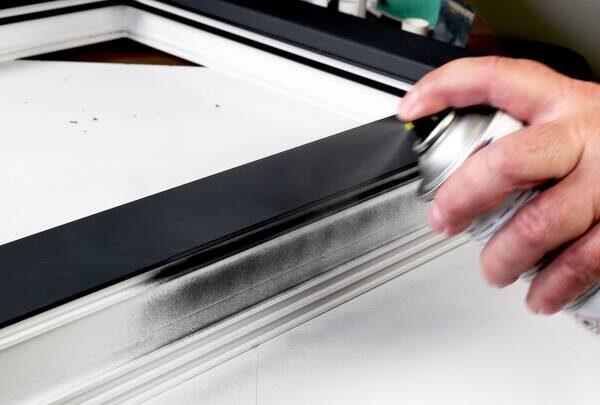 Anwendung Acryllack